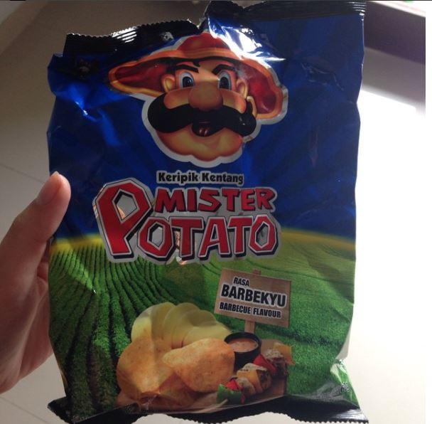 Mister Potato Barbecue Flavour - Indonesia - Closet Chipsin'
