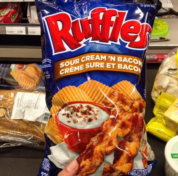 Ruffles Sour Cream & Bacon - Canada - Closet Chipsin'