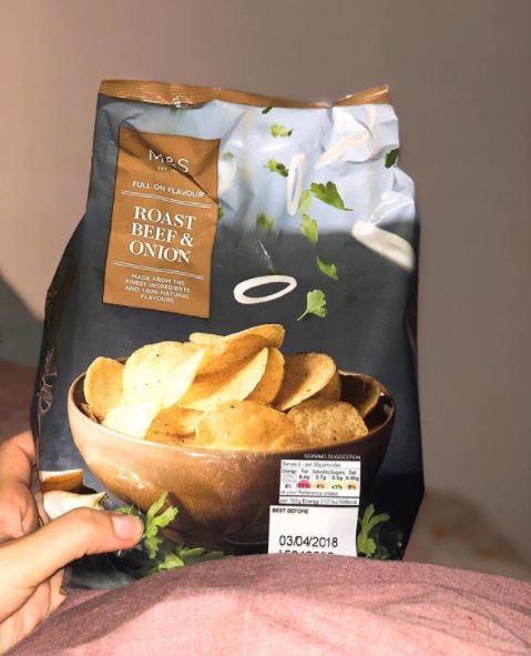 English potato chips